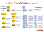 xml tm translated document