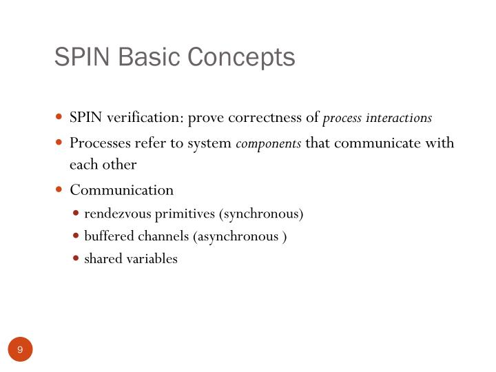 SPIN Basic Concepts
