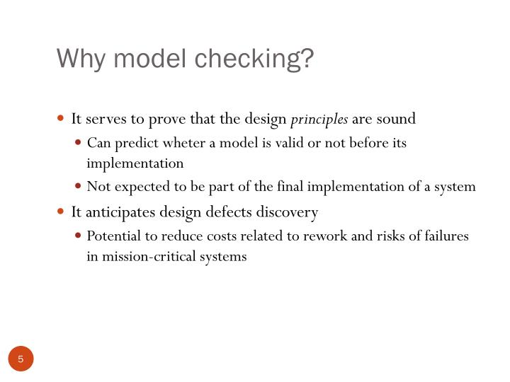 Why model checking?