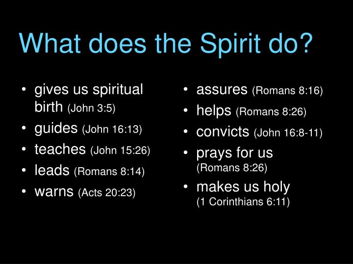 What does the Spirit do?