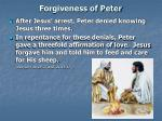 forgiveness of peter
