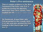 peter s pre eminence