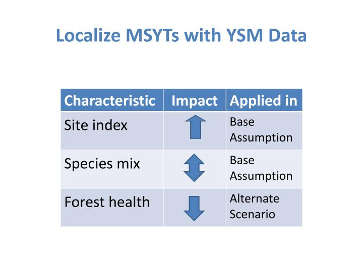Localize MSYTs with YSM Data