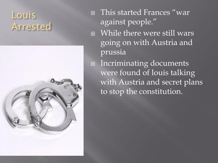 Louis Arrested