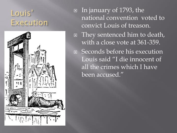 Louis' Execution