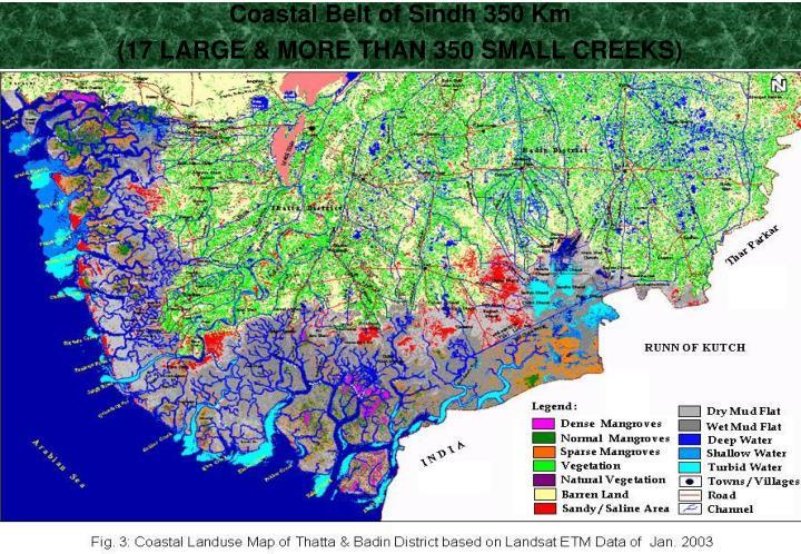 Coastal Belt of Sindh 350 Km