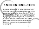 a note on conclusions1