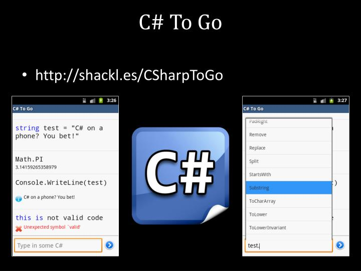 C# To Go
