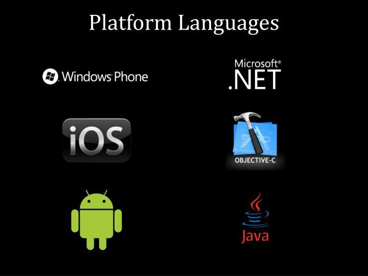 Platform Languages