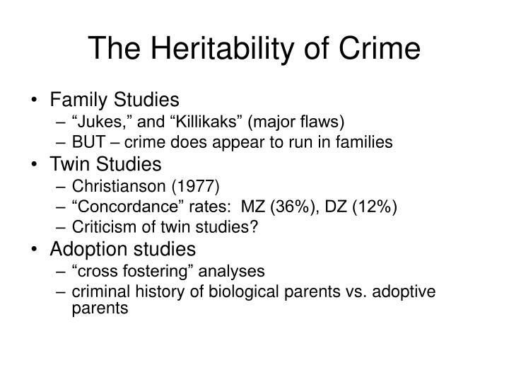 The Heritability of Crime