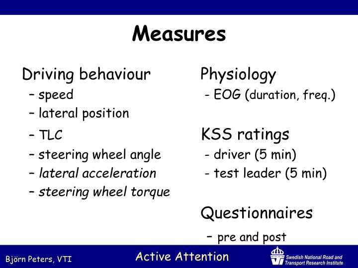 Driving behaviourPhysiology