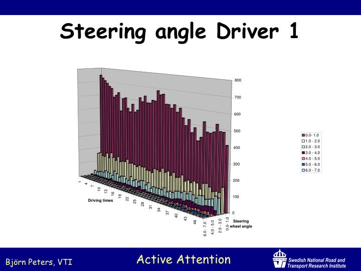 Steering angle Driver 1
