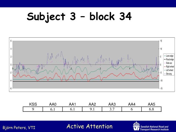 Subject 3 – block 34