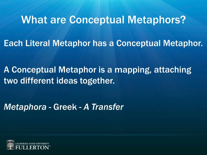 What are conceptual metaphors