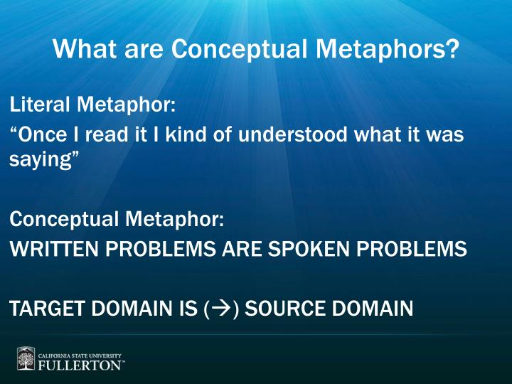 What are Conceptual Metaphors?