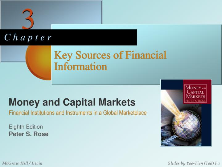 key sources of financial information