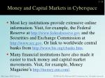 money and capital markets in cyberspace