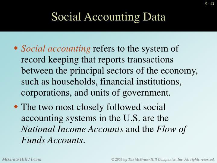 Social Accounting Data