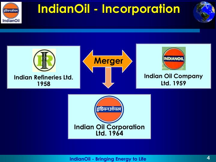 IndianOil - Incorporation