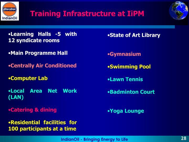 Training Infrastructure at IiPM