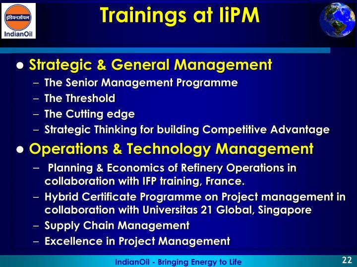 Strategic & General Management