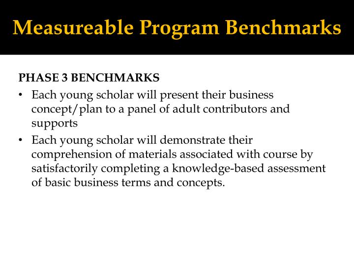 Measureable Program Benchmarks