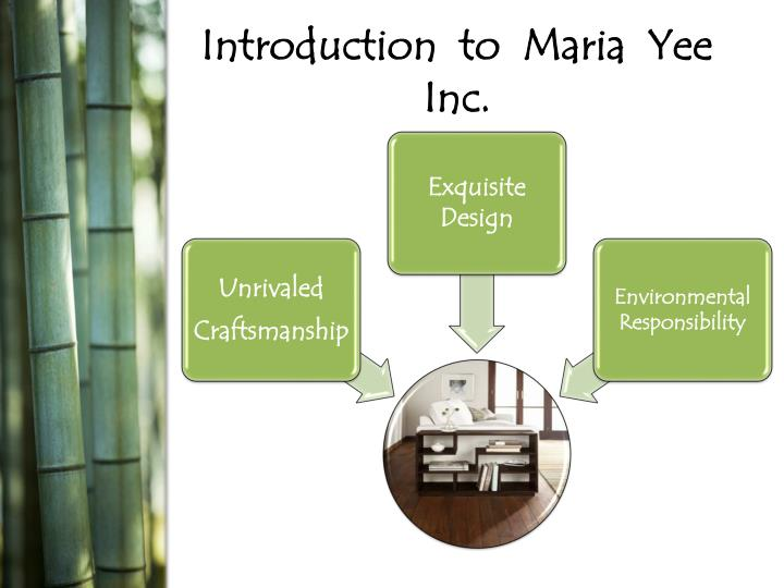 Introduction to maria yee inc