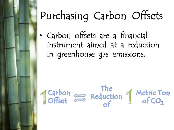 Purchasing  Carbon  Offsets