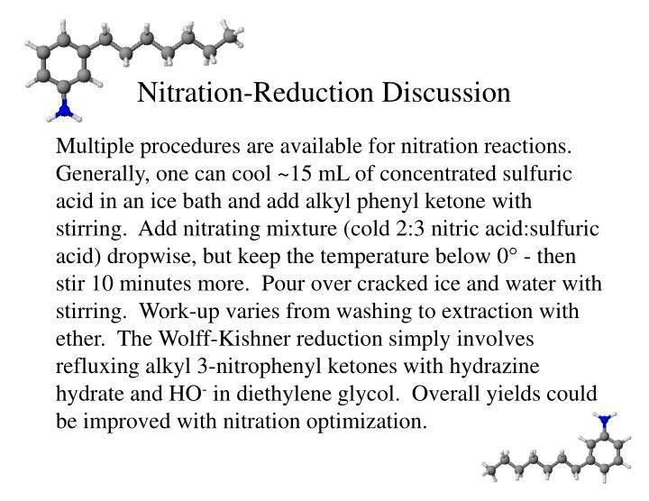 Nitration-Reduction Discussion