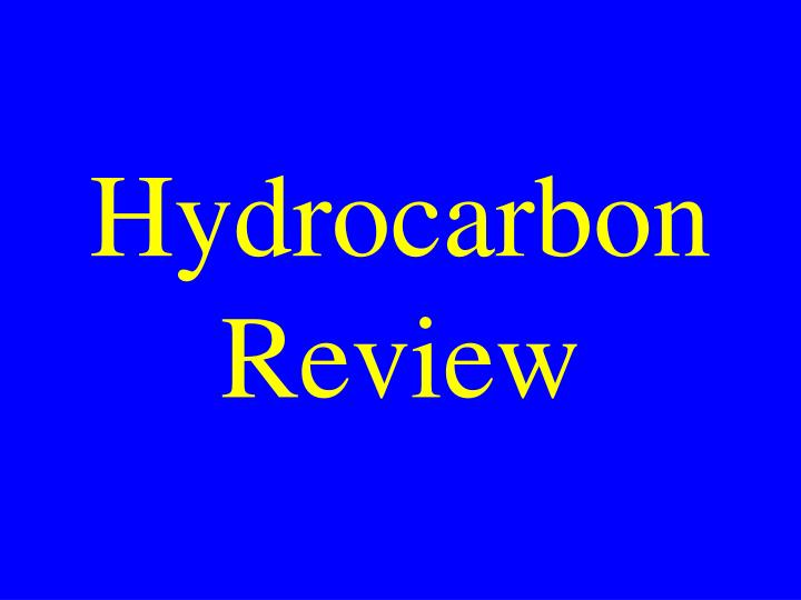 Hydrocarbon Review