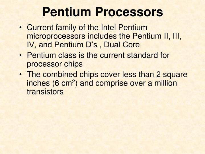 Pentium Processors