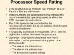 processor speed rating
