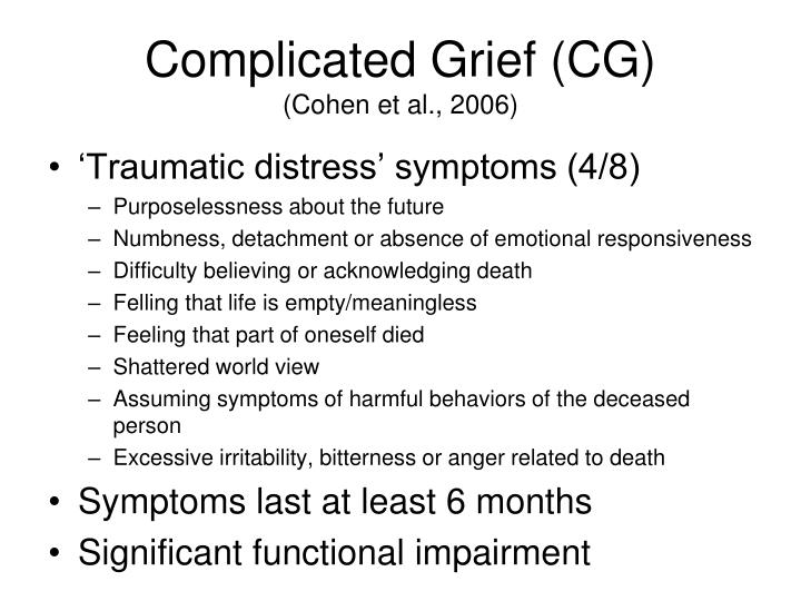Complicated Grief (CG)