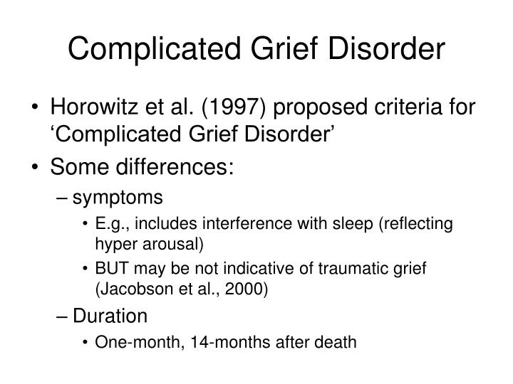 Complicated Grief Disorder