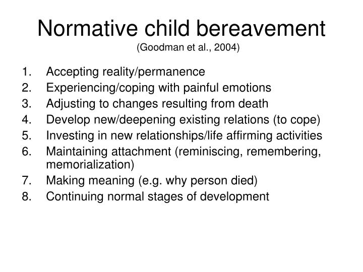 Normative child bereavement