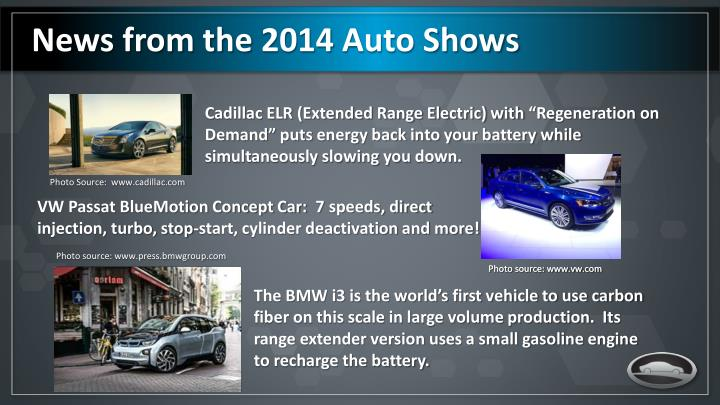 News from the 2014 Auto Shows