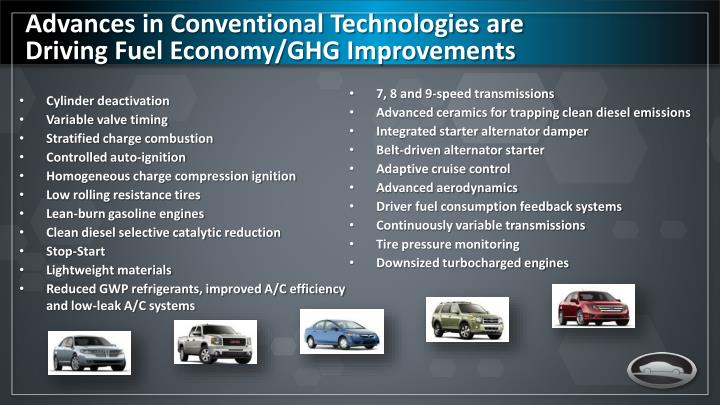 Advances in Conventional Technologies are Driving Fuel Economy/GHG Improvements