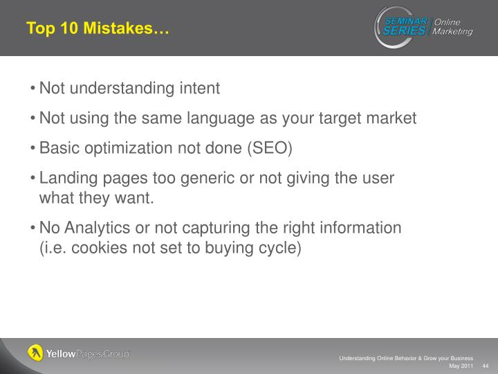 Top 10 Mistakes…