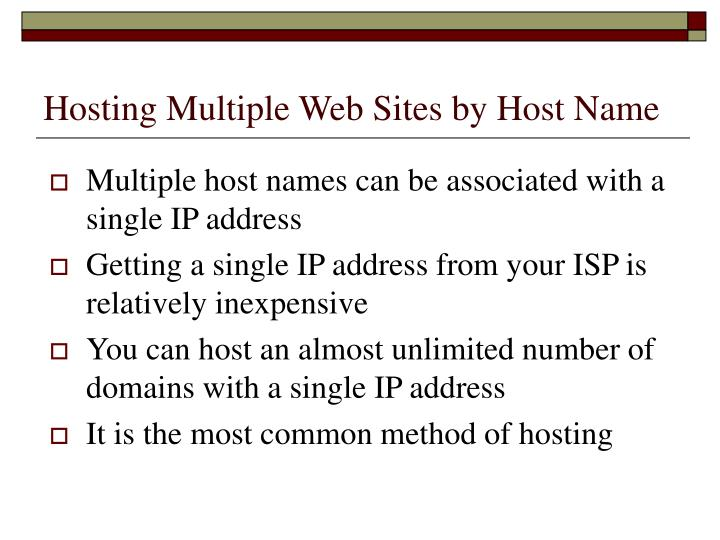 Hosting Multiple Web Sites by Host Name