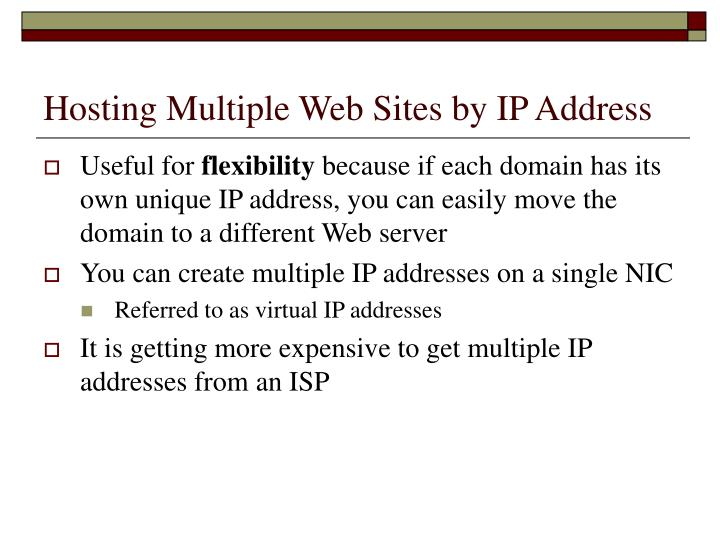 Hosting Multiple Web Sites by IP Address