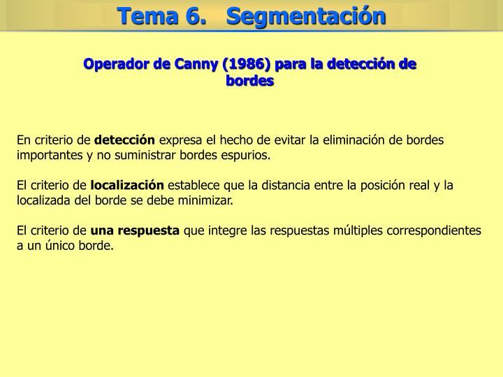 Operador de Canny (1986) para la detección de bordes