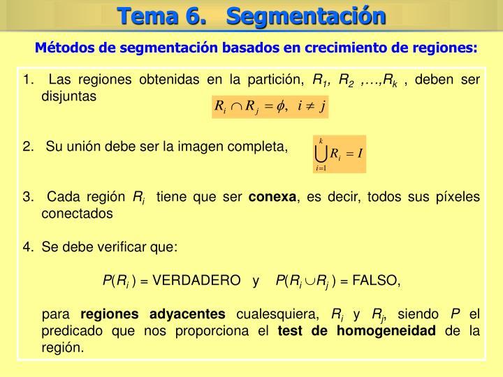 Métodos de segmentación basados en crecimiento de regiones: