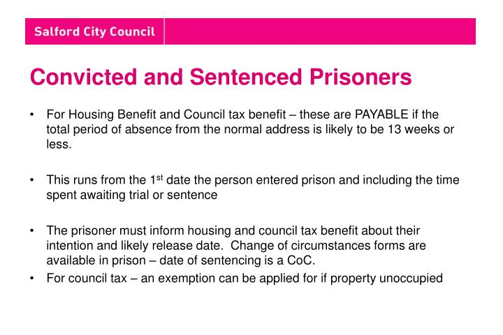 Convicted and Sentenced Prisoners