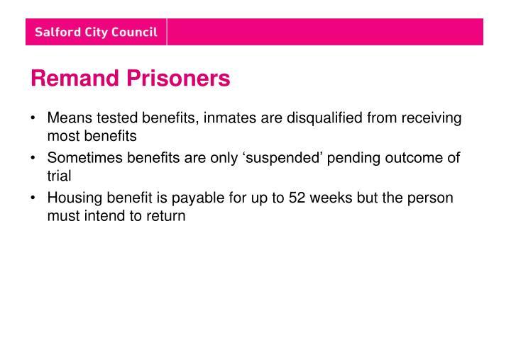 Remand Prisoners