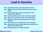 lead in gasoline