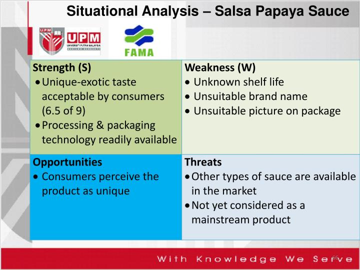 Situational Analysis – Salsa Papaya Sauce