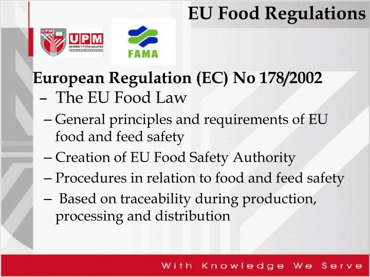 European Regulation (EC) No 178/2002