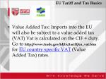 eu tariff and tax basics