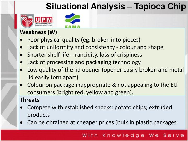 Situational Analysis – Tapioca Chip