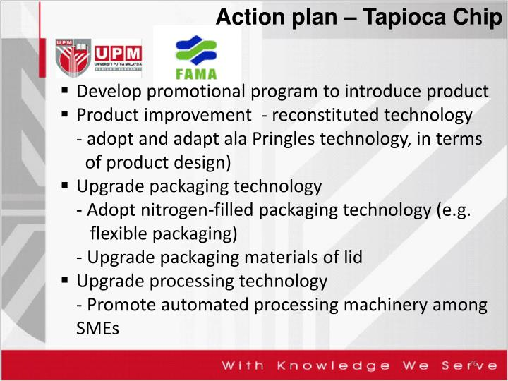Action plan – Tapioca Chip